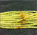 Yellow Opal Perfect Making Plain Roundel Beads