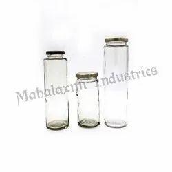Cylindrical Milk Shake Glass Bottles