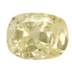 Cushion Cut Eye Clean Unheat Ceylon Yellow Sapphire