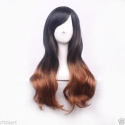 68cm Long Wavy Tilted Frisette Women Hair Wig