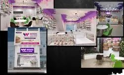 Bakery Store Interior Design Services, Work Provided: Wood Work & Furniture