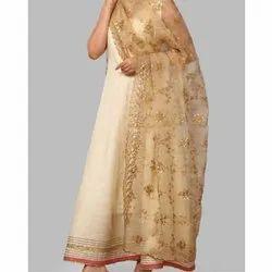 Sleeveless South Cotton Ladies Trendy Suit