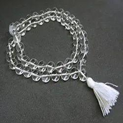 White Sphatik Kantha Mala