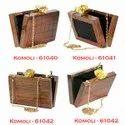 Pure Wooden Beautiful Handmade Clutch's Hand Shoulder Bag