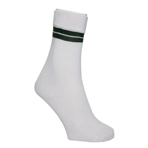 20f41395ca7 Boys And Girls Plain Kids White Calf Length Socks