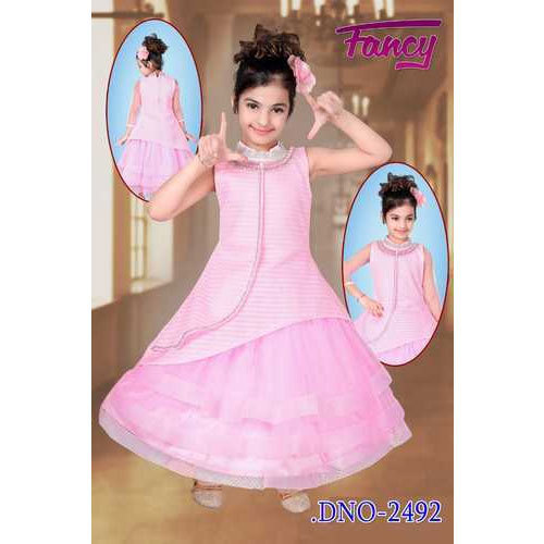 4f2e9c0bd0 Pink Party Wear Kids Designer Gown