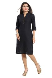 Z-black Cotton Kurti