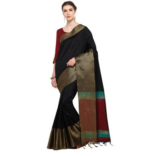 1332e324b Cotton Saree - Chanderi Cotton Saree Manufacturer from Surat