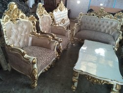 Wooden Rectangular 7 Seat Sofa Center Table