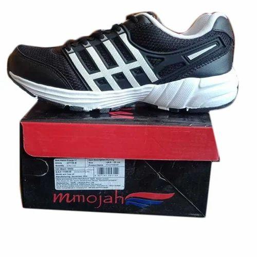 00f7ed435b5 Mmojah Men Black Sports Shoes, Size: 6-10, Rs 300 /pair   ID ...