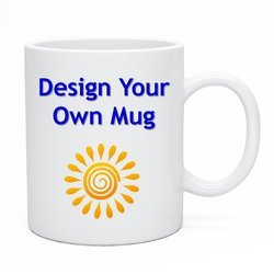 Ceramic Photo And Plain Digital Mug Printing Services, Color:Brown, Green, Silver