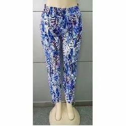 Digital Printed Regular Fit Ladies Rayon Pants, Waist Size: 28 - 32
