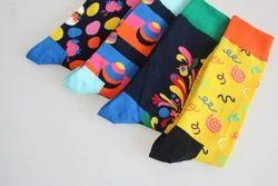 Casual Men Women & Kids Designer Cotton Socks