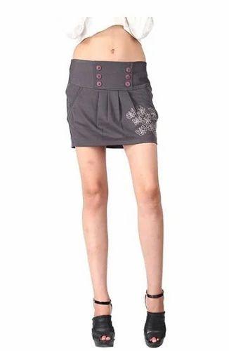 52badc193003c Remanika Grey Color Mini Skirt For Women