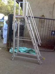 Aluminium Ladder Step Trolley