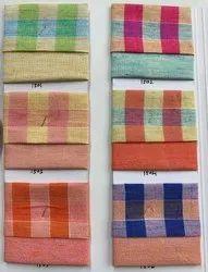 Checks Linen Plain N Check Fabric, GSM: 100-150