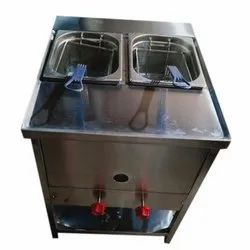 Floor Mounted Gas SS Deep Fryer