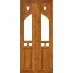 Brown Wooden JTT-P2 Pooja Door