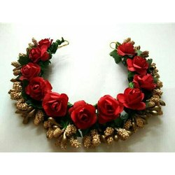 Red Flower Hair Brooch