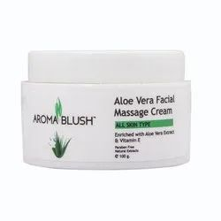 Aroma Blush Unisex Aloe Vera Face Massage Cream, For Parlour, Pack Size: 500 Gm