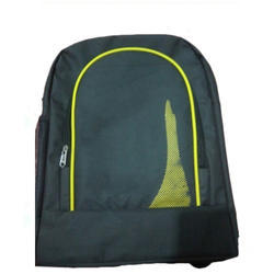 Polyester Green And Yellow Colored School Backpack 0c6360b42c4ba