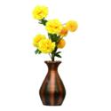 Copper Black Plain Vase