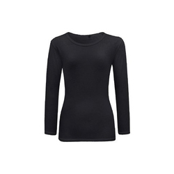 Ladies Cotton Black T Shirt, Size: S-XL