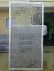 White Stainless Steel Net Gate