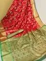 Somnath Creation 6.18 M Soft Banarasi Silk Weaving Saree, With Blouse Piece
