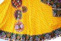 Women Embroidered Bandhej Garba Dress - Gujarati Traditional Wear