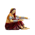 Rajasthani Lady Center Table Without Glass