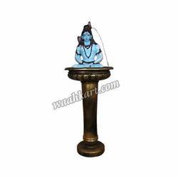 Divine Shivji Statue On Antique Looking Designer Pot