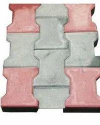 Grey I Shape Ordinary Concrete Paver Block, Thickness(Mm): 60 mm