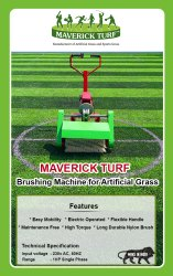 Maverick Turf Brushing Machine for Artificial Grass