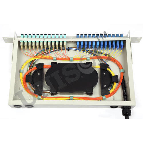 Lc patch panel 1u 24 port 96 fibres.