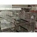 Shivam Steel Stainless Steel Kitchen Utensils Trolley
