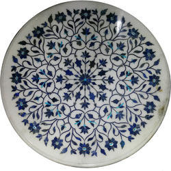 Marble  Inlay Work White Stone Pietra Dura Art
