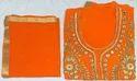 Orange Georgette Ladies Handwork Suit 17