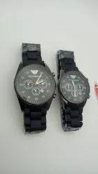 Empiro Armani Black Couple Watches