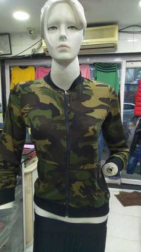58194747ba9f5 High Neck Casual Ladies Army Print Top, Rs 395 /piece, Chics Studio ...
