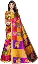 Casual Wear Printed Saree, With blouse piece, 5.5 m (separate blouse piece)