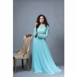 SZGW04 Party Wear Mint Blue Gown