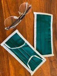 Reusable Cotton Cloth Green Medical Mask