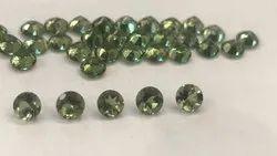 Natural Moldavite Round Calibrated Gemstones