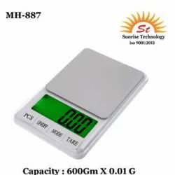 MH-887 Electronic Digital Scale 600 Gm, Accuracy: 0.01 Gm