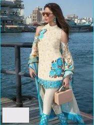Unstitched Multicolor Pakistani Salwar Suits Wholesaler In Surat, Dry clean
