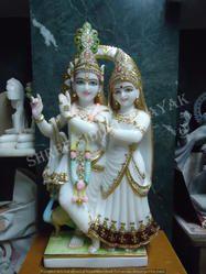 Marble Radha Krishna Statue - Divine Radha Krishna Marble Statue