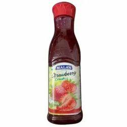 Malas Strawberry Crush Fruit Drink, Liquid, Packaging Size: 750 ml