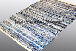 SGE Rectangle Denim Cotton Rugs