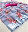 Party Wear Fancy Soft Linen Saree